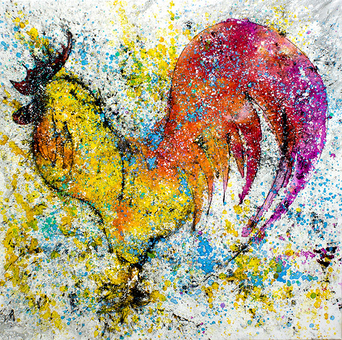 Gallo de colores