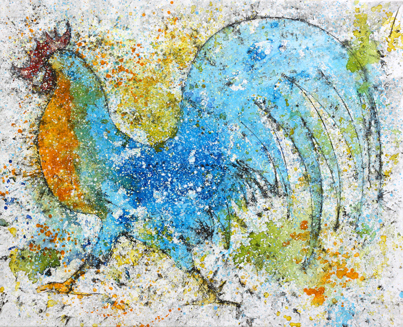 Gallo en movimento
